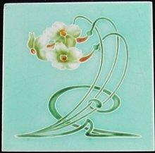 Antique English Art Nouveau Tile - Henry Richards