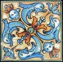 Antique American Arts & Crafts Tea Tile - Mosaic