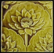 Antique English Majolica Minton Hollins Tile