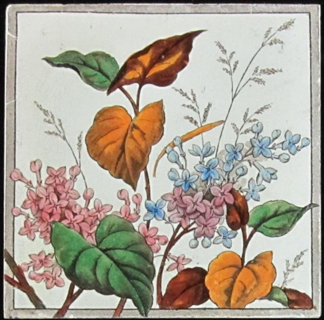 Antique English Victorian Tile 4 available.
