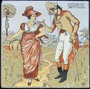 Antique American - Wheeling- Nursery Rhyme Picture Tile