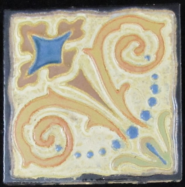 Antique American Arts & Crafts Tile - Flint Faience
