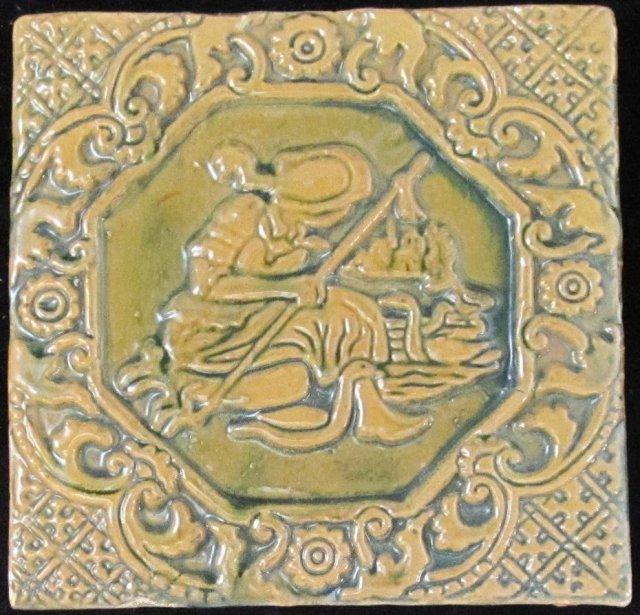 Antique American Arts & Crafts Moravian Tile