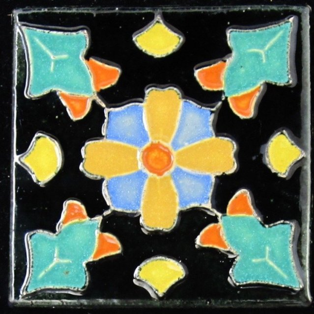 Antique American Caifornia Art Tile
