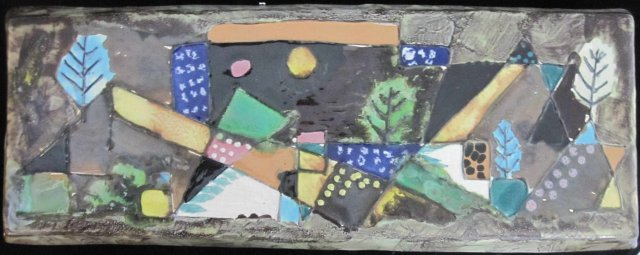 Harris Strong Midcentury Modern Ceramic Abstract Landscape