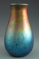 Sunset Heart Art Glass Vase, Lundberg Studios