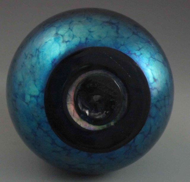 Sunset Heart Art Glass Vase, Lundberg Studios