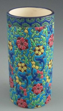 Antique French Art Pottery Majolica Vase