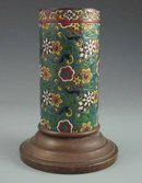 Antique French Art Pottery Majolica Vase - Longwy