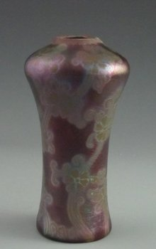 Antique Weller Sicard Iridescent Vase