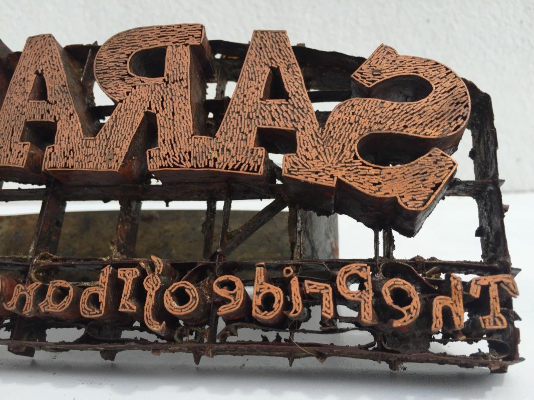 Antique BATIK STAMP Copper Java Indonesia Textile Fabric Cloth Traditional #2