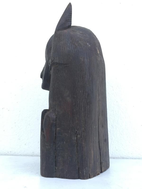 ABSTRACT BORNEO FIGURE 260mm/10.2 Female Statue Sculpture Primitive HARDWOOD