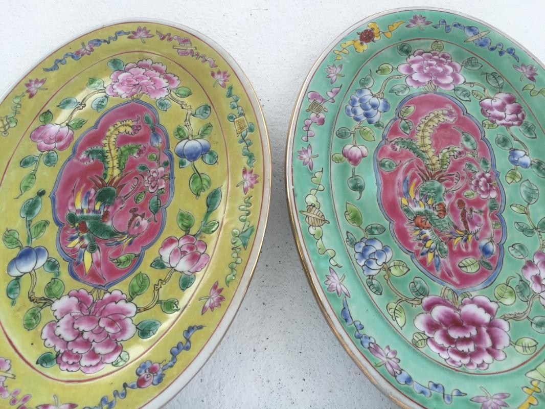 Phoenix In-Flight Baba Nyonya PLATE SERVING DISH Dining Food Wedding Ceramic Art