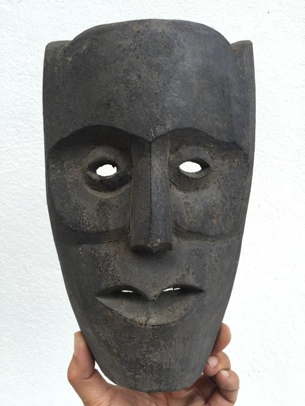 BORNEO MASK OLD ASIAN ARTIFACT Topeng Wood Wall Decoration Face Facial Statue