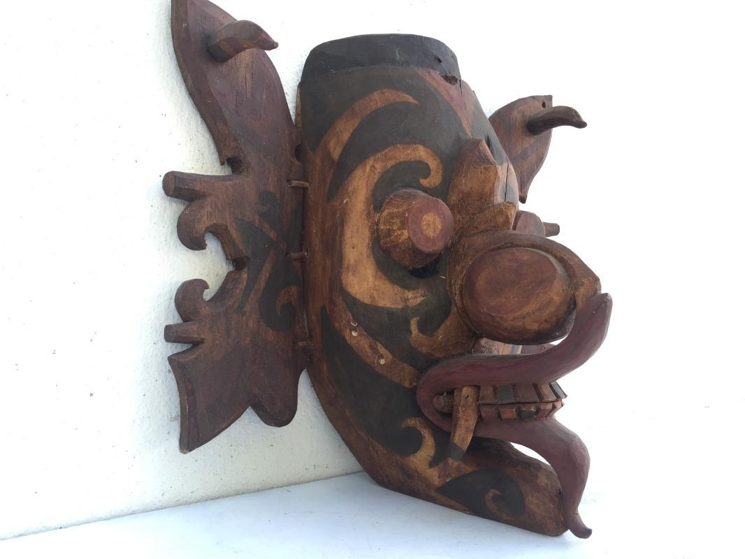 #5 DAYAK GHOST MASK Office Home Bar Pub Wall Deco Craft TOPENG HUDOG DYAK BORNEO