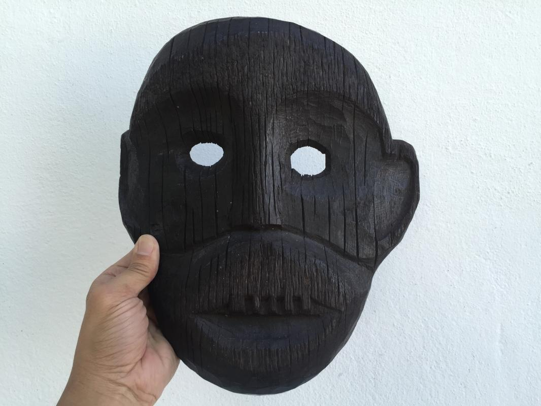 IRONWOOD DAYAK AHE 290mm MASK Borneo Facial Face Dyak Native Tribal Artefact