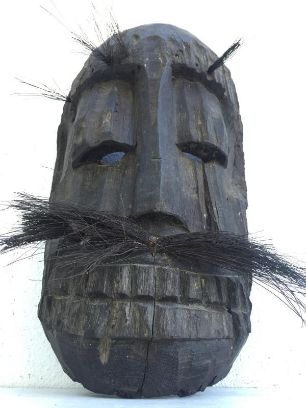 TOPENG DAYAK AHE 310mm PELAIK MASK Borneo Facial Face Dyak Native Tribe Artifact