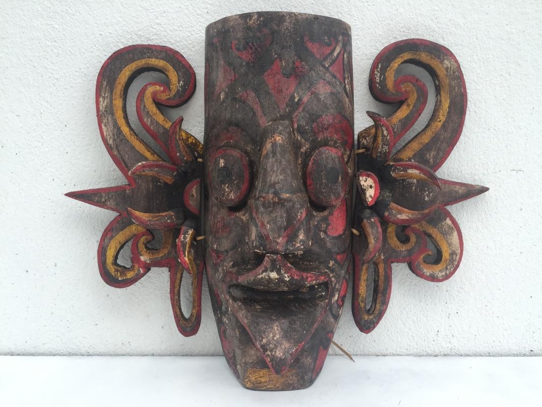 #2 Famous HUDOG MASK Topeng Orang Ulu Borneo Facial Face Expression Artifact