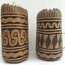 ONE PAIR Brand New Ajat / Native BASKET Woven Sling Bag Backpack Camping Traditional