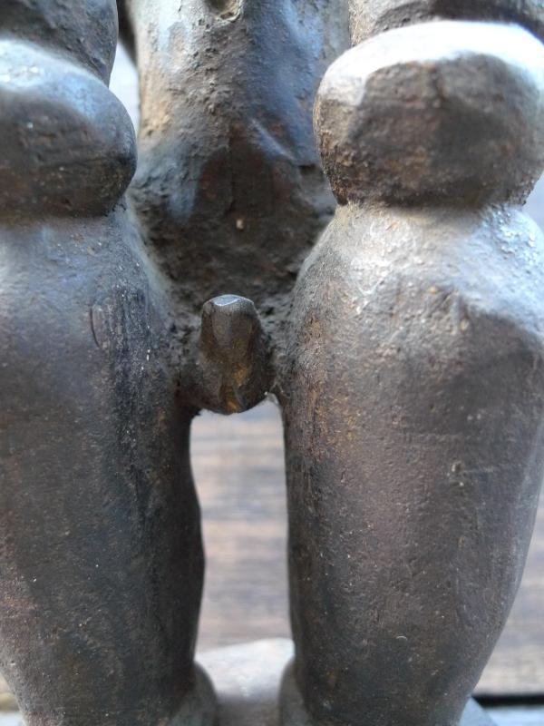 520mm PATUNG PANGLIMA NIAS STATUE Naked Penis Fertility Warrior Sculpture Figure