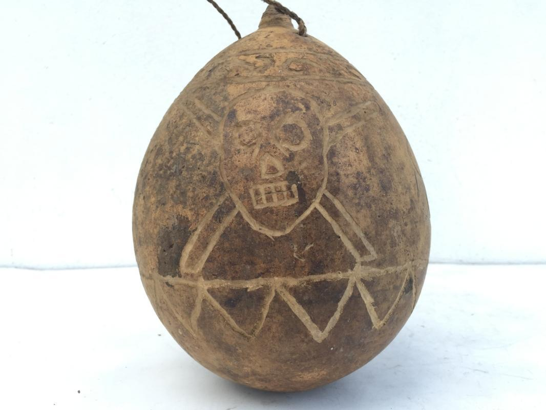 OLD FRUIT PUMPKIN Poison BOTTLE ?? Container halloween Artifact Dried Fruit