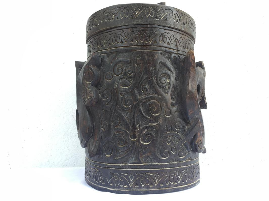 ASO NAGA RITUAL ANCESTRAL CONTAINER Lupong Medicine Box Chamber Ornament #4