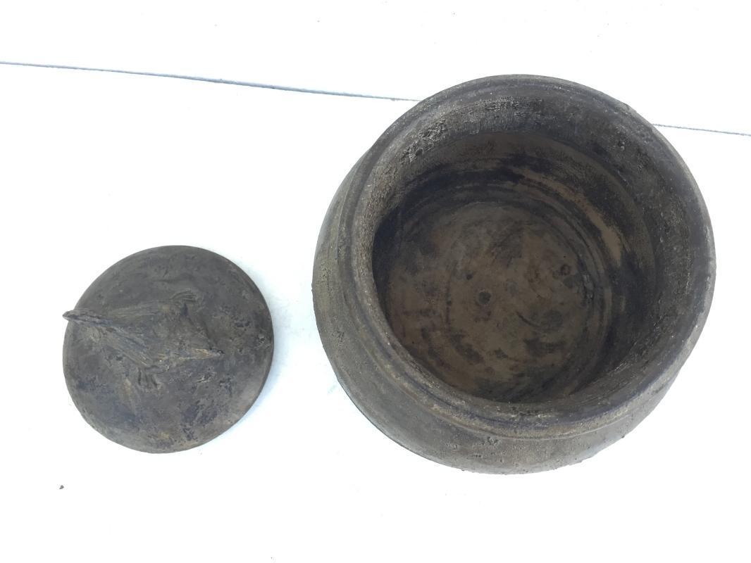 ANTIQUE  CHAMBER 260mm TRIBAL DAYAK BORNEO Medicine Box Statue Artifact Dyak