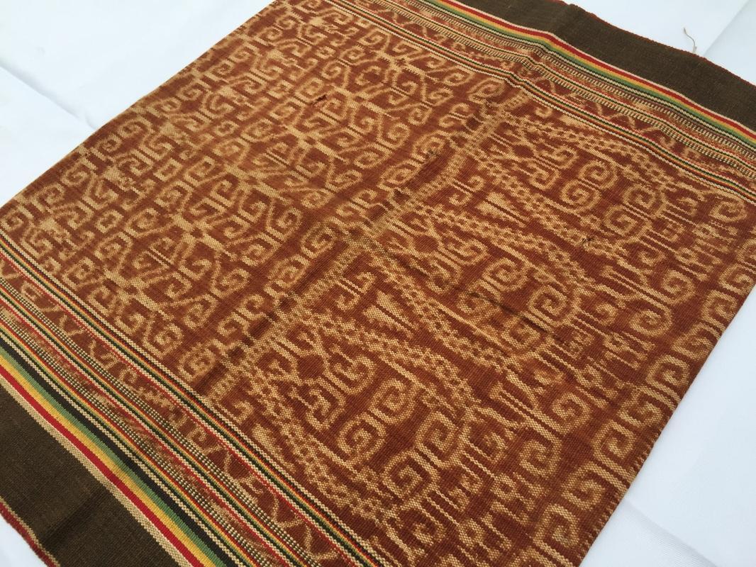 FREE POSTAGE Old Authentic SKIRT Dayak Textile cotton SARONG LADIES GARMENT #15
