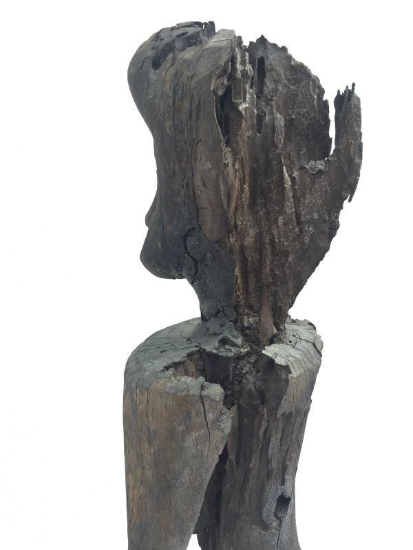 200 YEARS ERODED STATUE Bahau Dayak Dyak Weathered Primitive Ironwood Figure