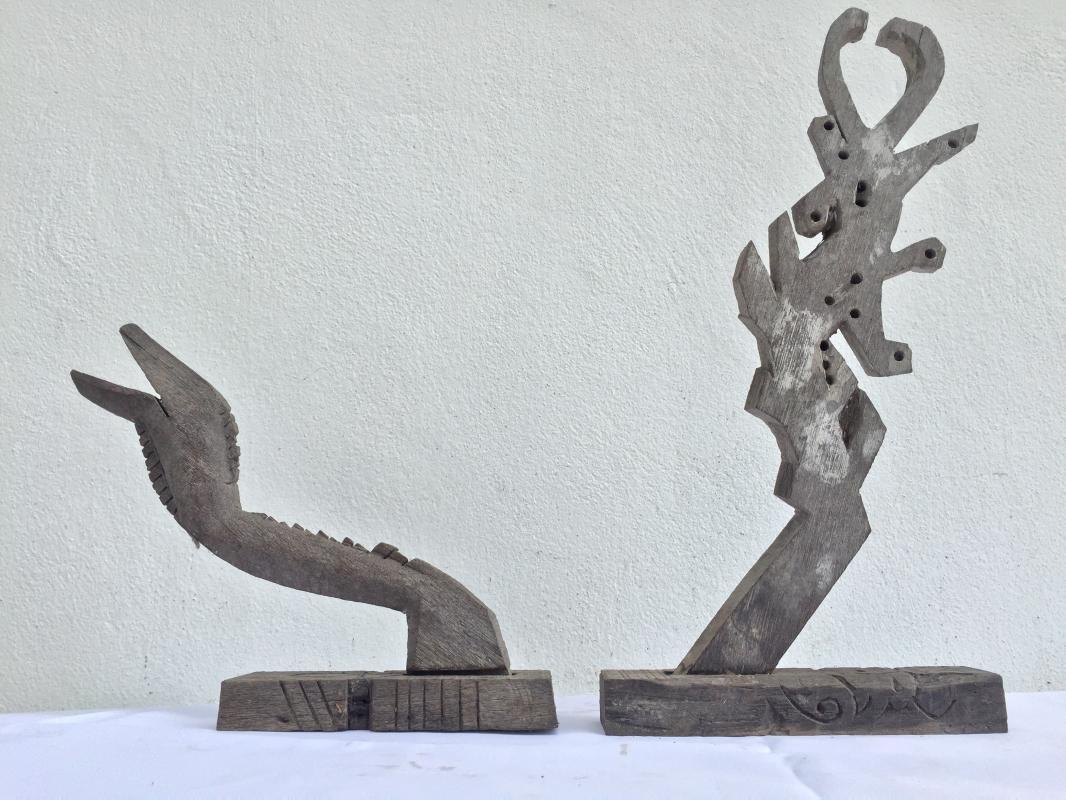 ANTIQUE SERPENT STATUE Figure Animal Sculpture Asian Home Bar Furniture Enhancer
