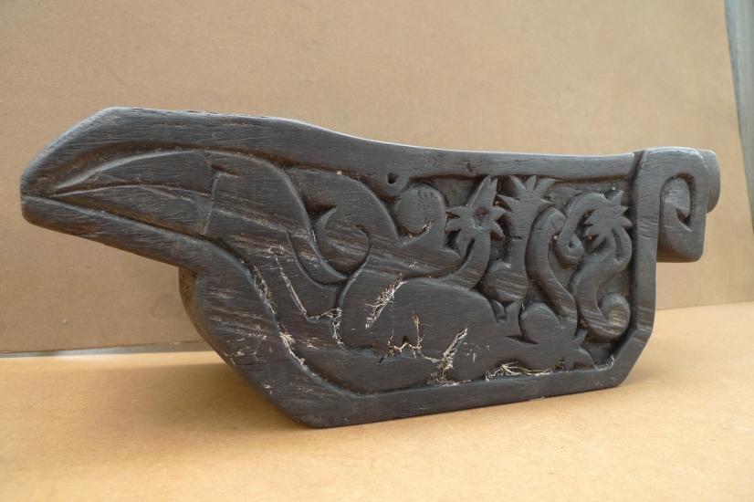 BORNEO IRONWOOD ARTIFACT 14 lb XXXL ANTIQUE MEDICINE TRAY Dayak Tribe Tribal Art
