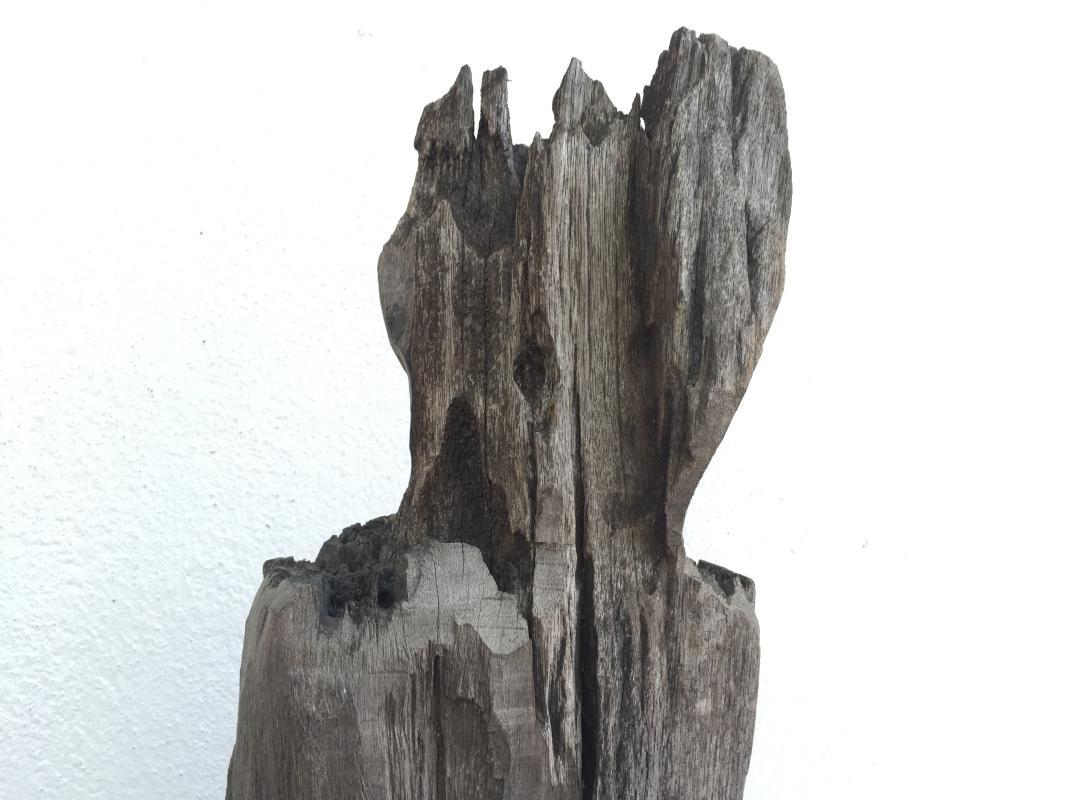 ERODED GUARDIAN 620mm DAYAK STATUE Patung Kebahan Primitive Figure Sculpture Art