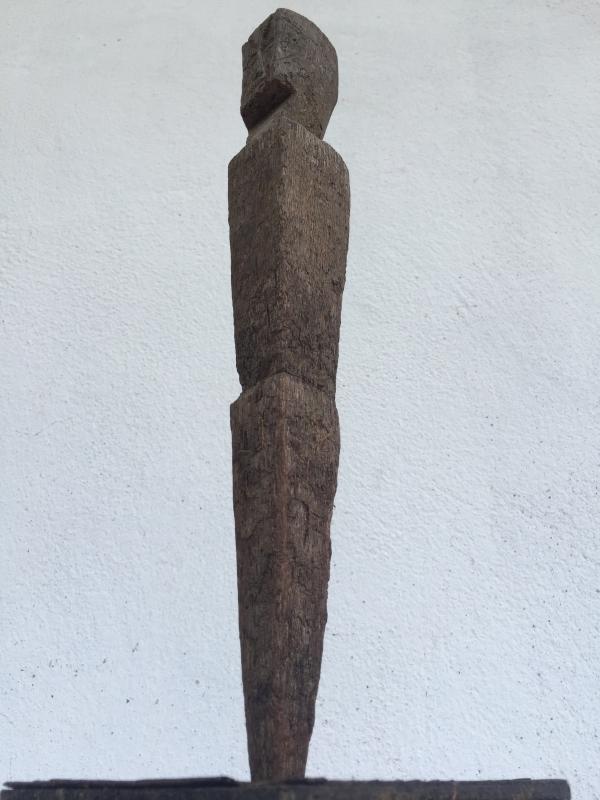 ANTIQUE ANCESTRAL Rice Field Guardian STATUE IMAGE POLE Sculpture Icon Borneo #3