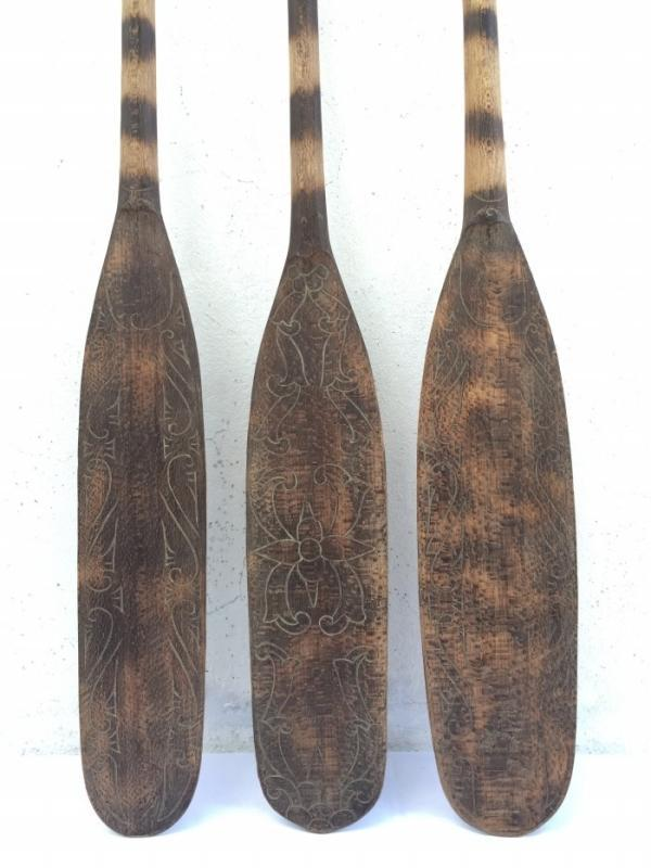 HARDWOOD TRADITIONAL PADDLE 1310mm Boating Water Sport Kayak Rafting Canoe Tribal Native Borneo
