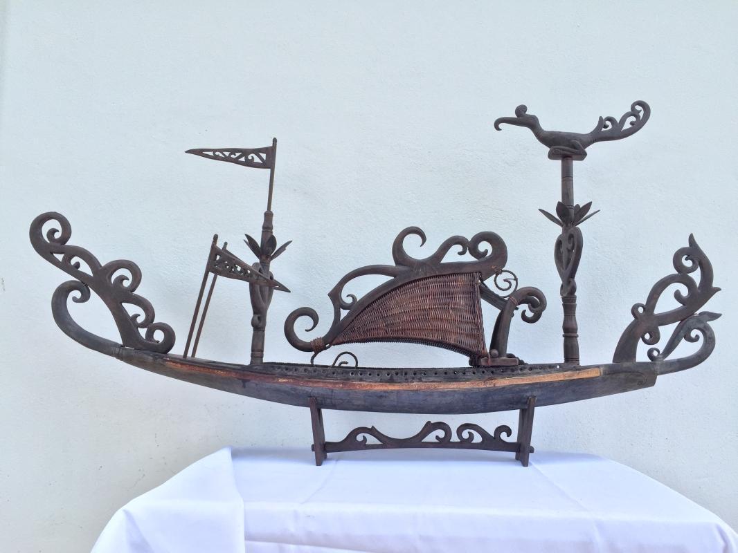 SPECTACULAR XXXL TRIBAL 1280mm/50.4 BOATHOUSE VESSEL Figure Mansion Hotel Boat