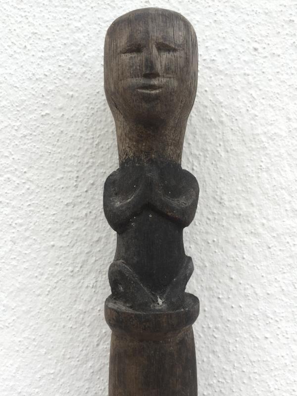 TONGKAT RAJA 1490mm CHIEFTAN POLE Stick Elders Dayak Figure Statue Sculpture