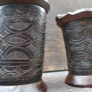 CATTLE HORN One Pair 120mm TORAJA JEWELRY BOX CONTAINER Ancestral Figure Statue