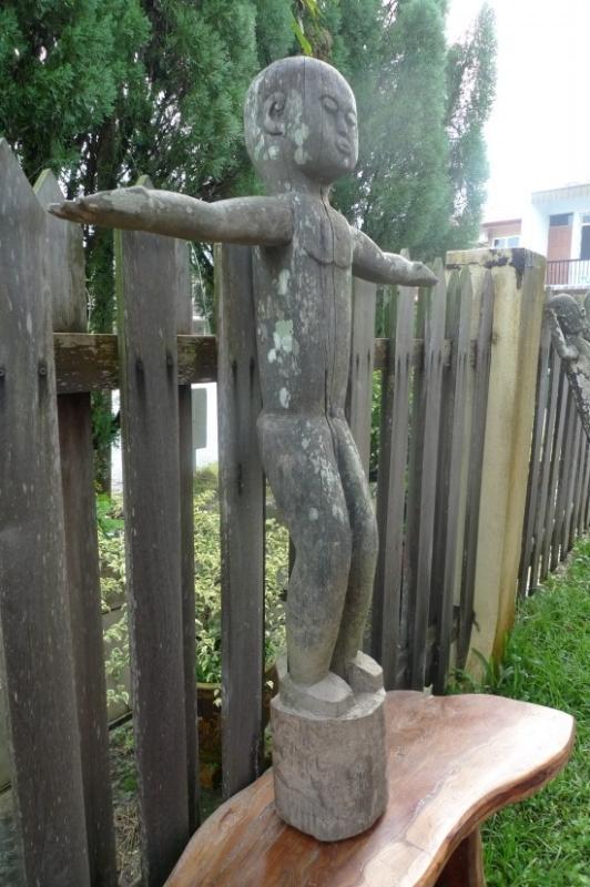50 lb XXXL DAYAK STATUE 1240mm TALL Tribal Figure Sculpture Borneo Dyak Native