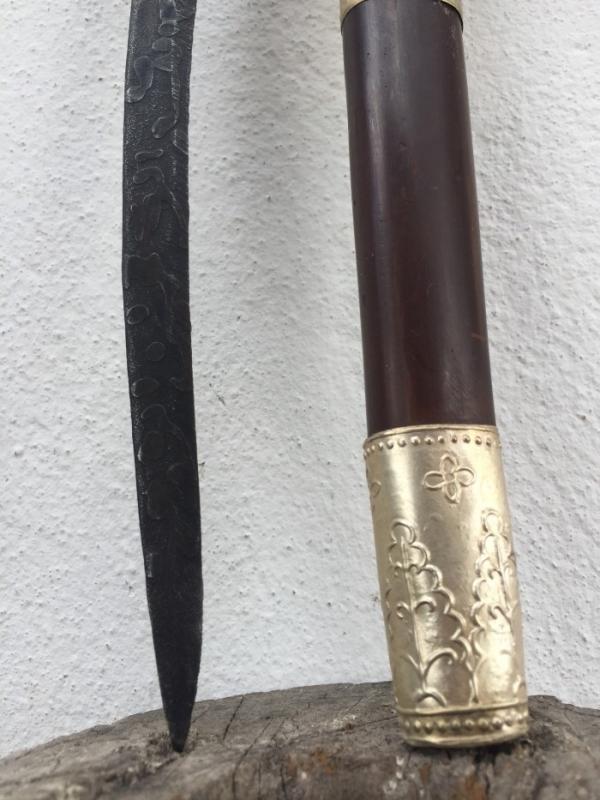 MALAY ARCHIPELAGO 350mm DAGGER Badik Keris Kris Sword Samurai Knife Jawi #4