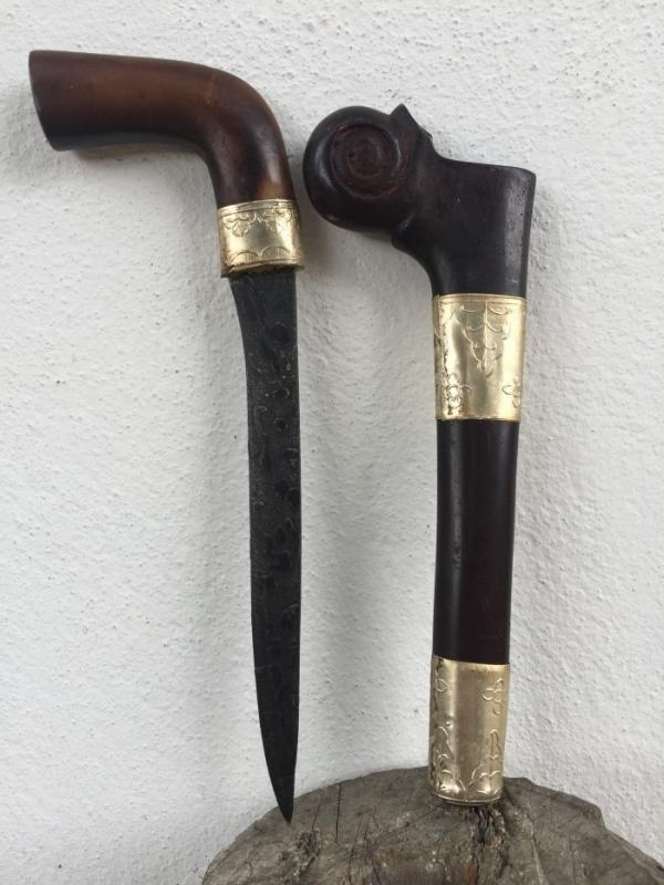 CEREMONIAL 260mm PRAYER DAGGER Holy Jawi Verses Knife Kris Keris Weapon Blade #2