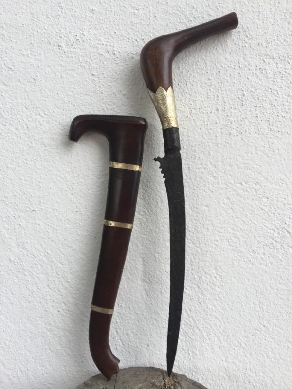 BADIK RENCONG 370mm Jawi Blade Keris Kris Weapon Knife Dagger Sword Samurai #1