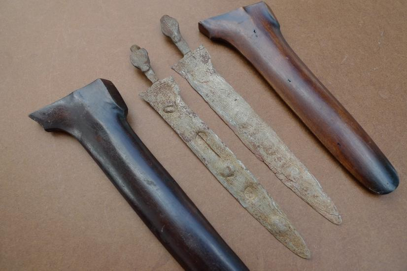 500 Years MALE & FEMALE(1 Pair) KERIS 230mm KRIS SAJEN MAJAPAHIT KNIFE WEAPON