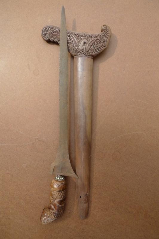 OLD SPECTACULAR 490mm KERIS MADURA Knife Weapon Sword Kris Dagger Martial Blade