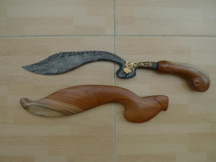 570mm GIANT KUJANG JAWA BARAT Knife Weapon Blade Dagger Sword Keris Machete #4