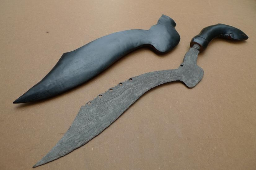 2.) OLD BLADE 520mm KUJANG JAWA Knife Weapon Dagger Sword Parang Keris Samurai