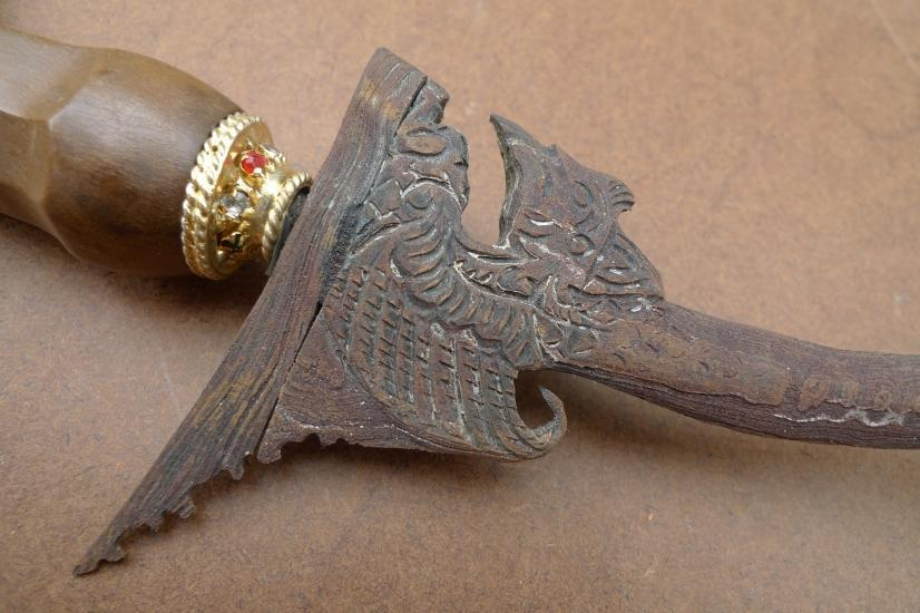 BURUNG GARUDA 530mm UNUSUAL BLADE KERIS Weapon Knife Dagger Sword Arms Samurai