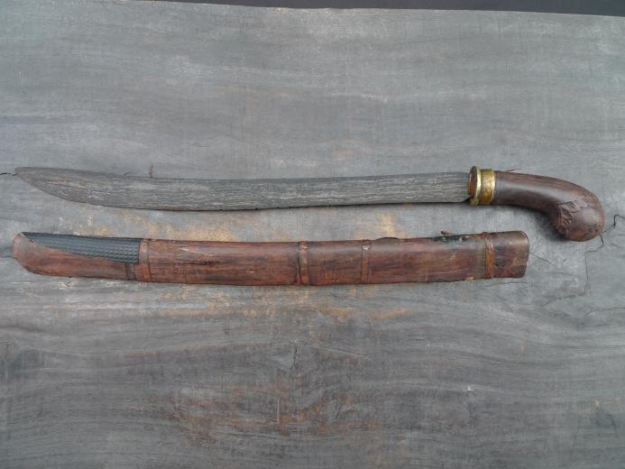PEDANG SUMBAWA Antique Golok Sword Knife Parang Weapon Arms Lesser Sunda Bali
