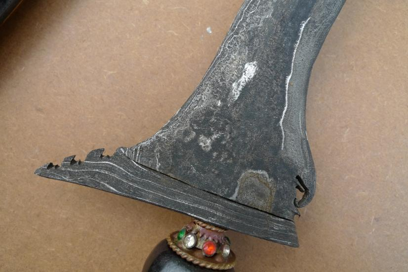 DOUBLE PAMOR 19.3 KERIS SUMATRA PALEMBANG Weapon Knife Blade Dagger Sword Kris