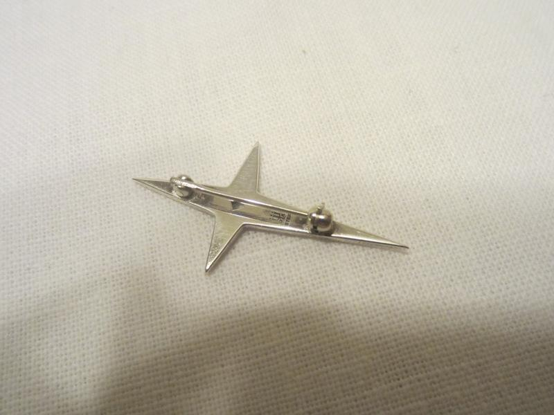 JAMES AVERY STERLING Silver SHINING STAR CROSS Pin BROOCH retired