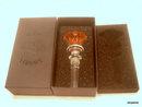 VERSACE - Rosenthal MEDUSA rose glass BOTTLE STOPPER - mint in box